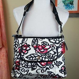 Coach Poppy Daisy Floral Graffiti Crossbody Bag